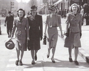 """Women in the 1940's - Fashion"""
