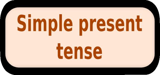 English Corner – Simple PresentTense