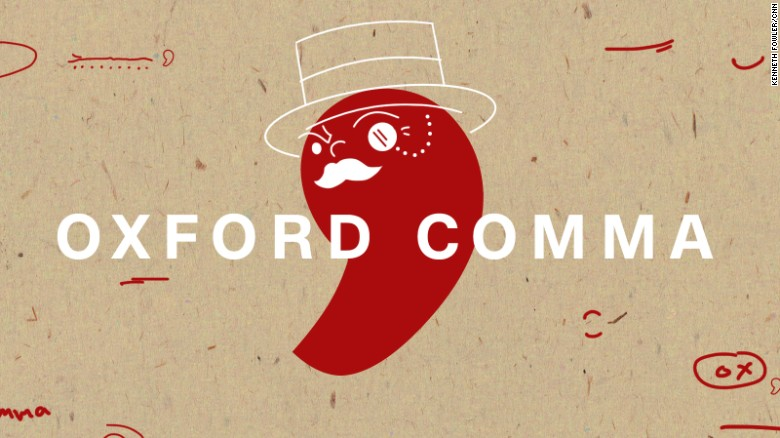 English Corner – The Oxford Comma