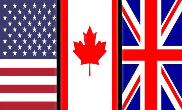 English Corner – Different Spelling and Vocabulary (US, UK,Canada)